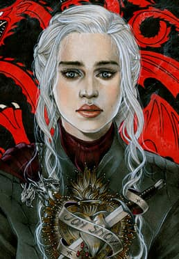 Original Artworks - 2019 - The Bleeding Heart Of Daenerys Targaryen